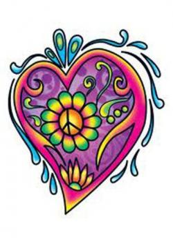 Hippie clipart beautiful heart