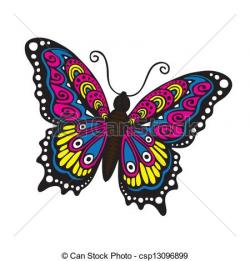 Hippies clipart butterfly