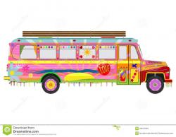 Hippie clipart colorful