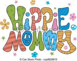 Hippies clipart colorful