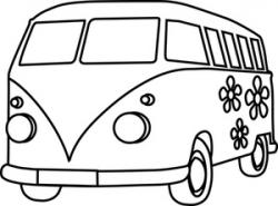 Hippies clipart coloring page