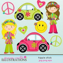 Hippie clipart cute