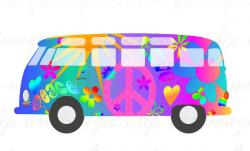 Hippies clipart vw camper van