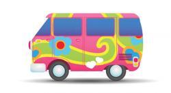 Vans clipart hippie van