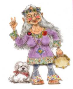 Hippies clipart grandma