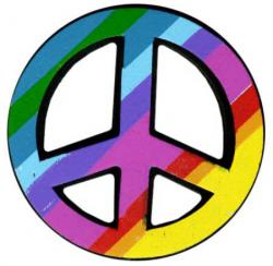 Peace Sign clipart psychedelic