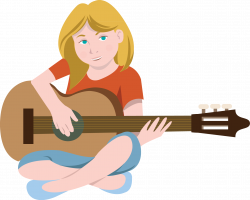 Hippie clipart guitar player