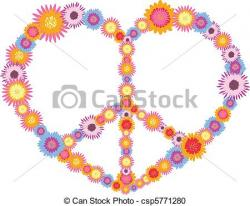 Hippies clipart heart flower
