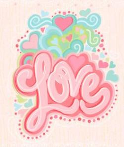 Hippie clipart i love you heart