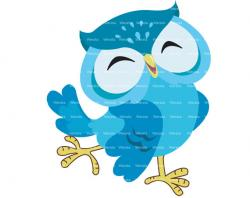 Owl clipart turquoise