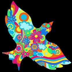 Physcedelic clipart peace bird