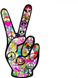Hippie clipart peace sign