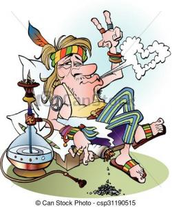 Hippie clipart smoking