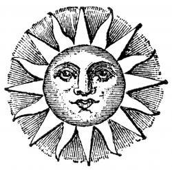 Drawn sunshine celestial