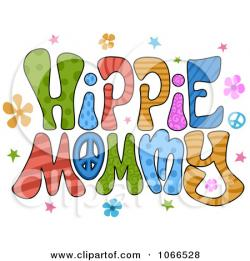 Hippie clipart themed