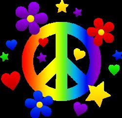 Peace clipart rainbow stars