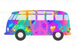 Hippies clipart volkswagen