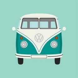 Hippie clipart vw camper van