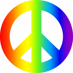 Physcedelic clipart peace sign