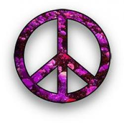 Mauve clipart peace sign