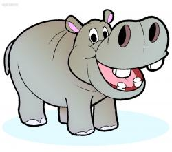 Colorful clipart hippo