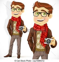Drawn scarf hipster