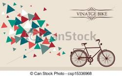 Hipster clipart bicycle