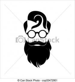 Hipster clipart black and white