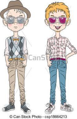 Hipster clipart cartoon