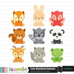 Hipster clipart cute woodland creature