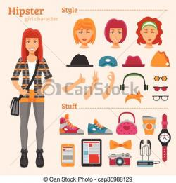 Hipster clipart decorative
