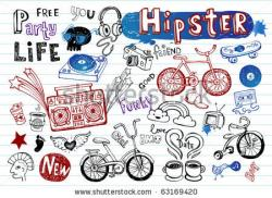 Hipster clipart doodle