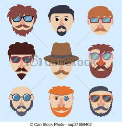 Hipster clipart face