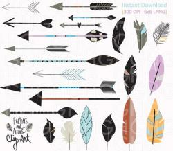 Hipster clipart feathered arrow