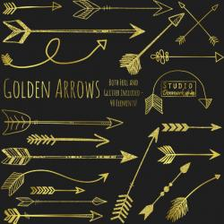Hipster clipart gold arrow