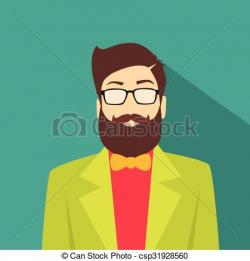 Hipster clipart hipster man
