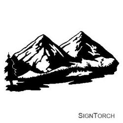 Outdoor clipart mountain range