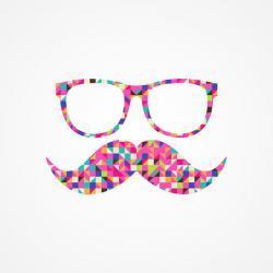 Mini clipart mustache