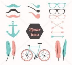 Hipster clipart moustache tumblr