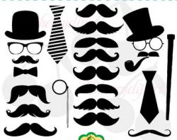 Top Hat clipart mustache style
