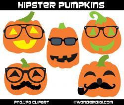 Hipster clipart pumpkin