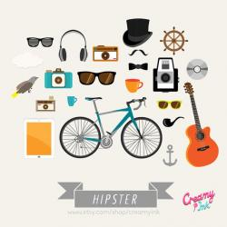 Hipster clipart trendy
