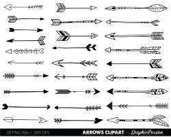 Typography clipart arrow
