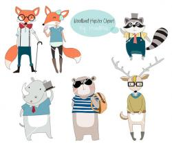 Hipster clipart woodland animal