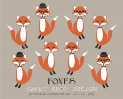 Hipster clipart woodland fox