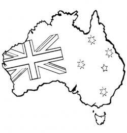 Australia Clipart Black And White