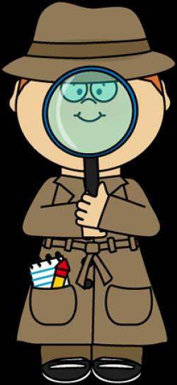 Letter clipart detective