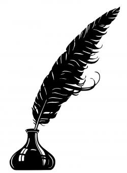 Wiccan clipart feather quill