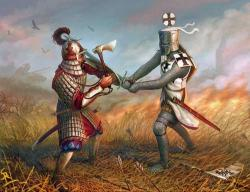 Medieval clipart knight battle