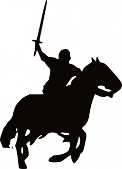 Knight clipart horse silhouette